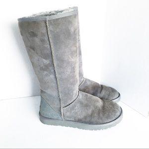 Ugg Boots Classic Tall Sheepskin Shearling Grey 9